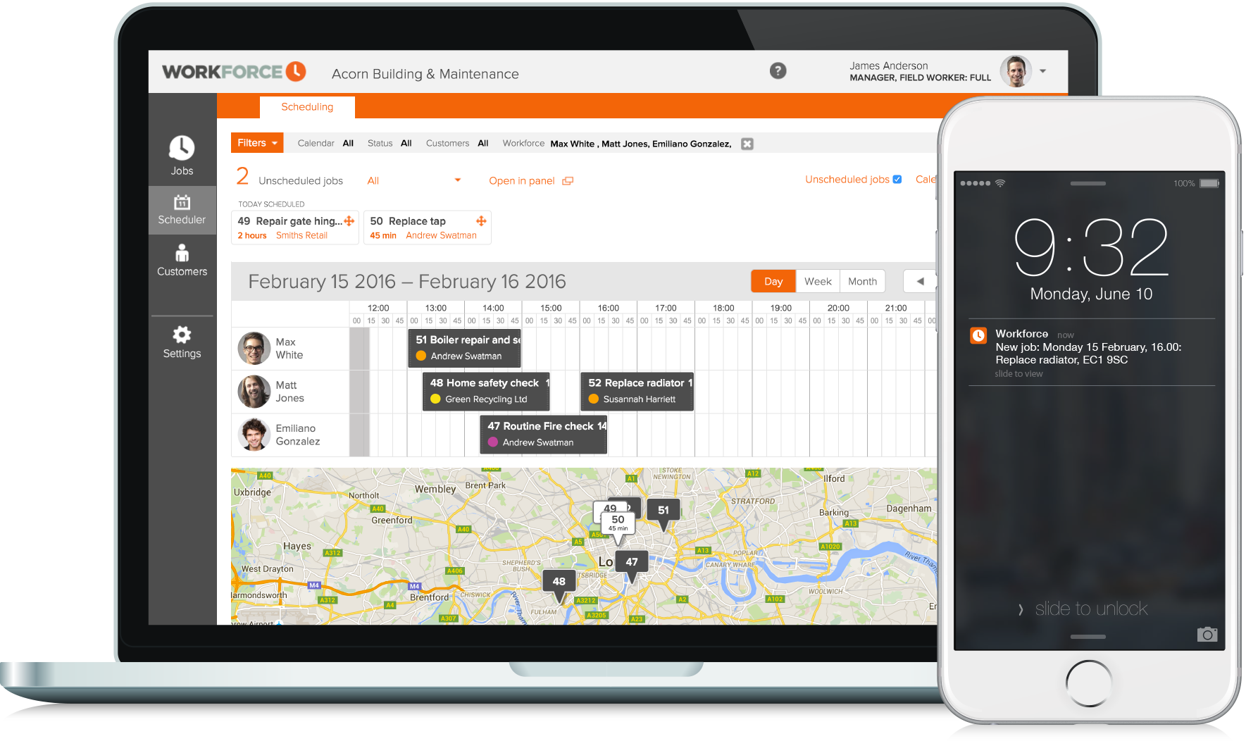 Drag and drop scheduling software - Workforce.FM