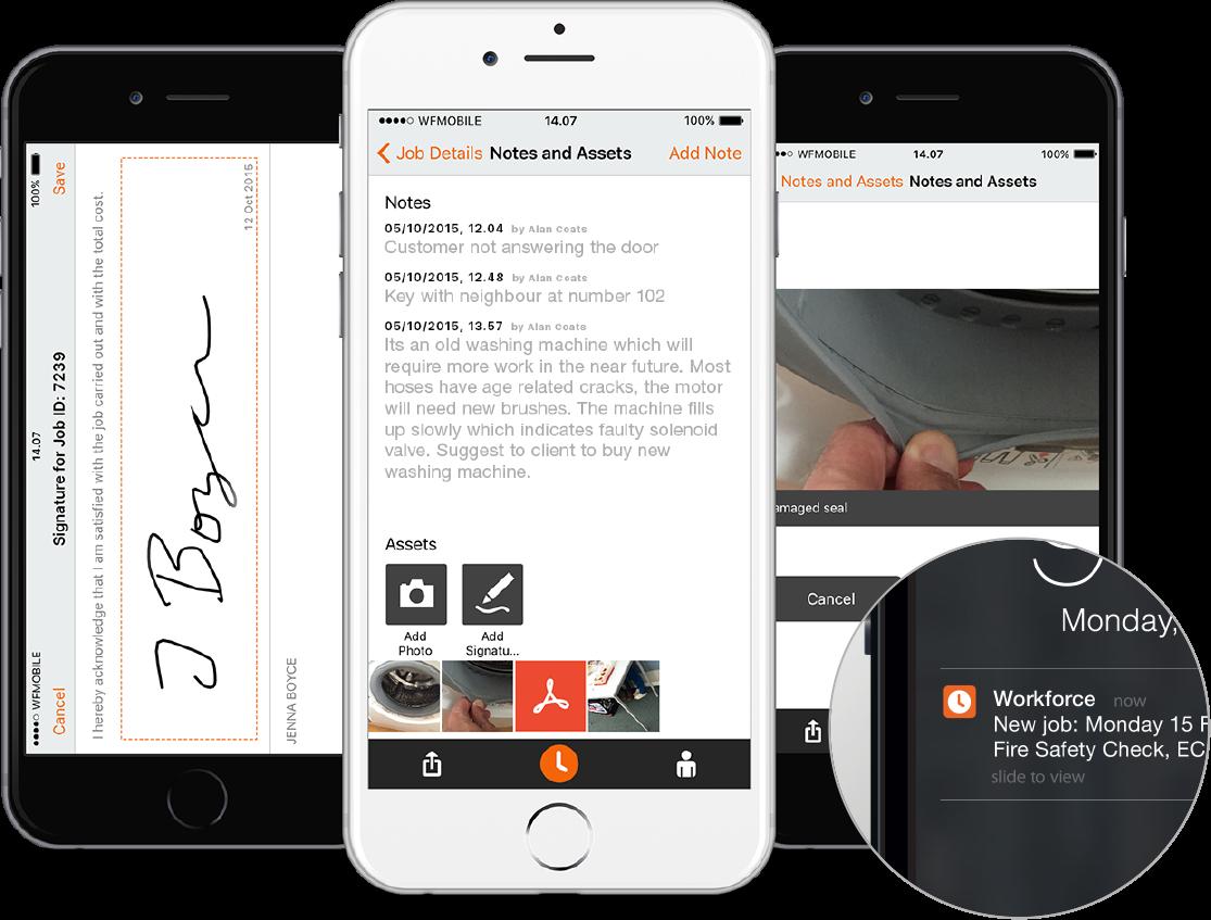 Field service software mobile App - Workforce.FM