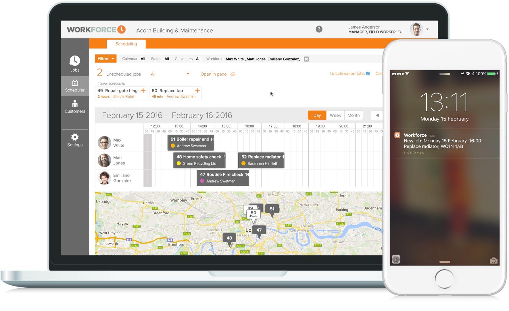 Dispatch & Job Scheduling software | Workforce FM
