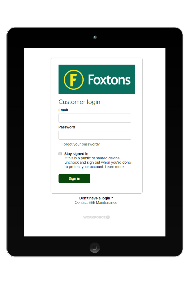foxtons-customer-portal-login-page-tablet
