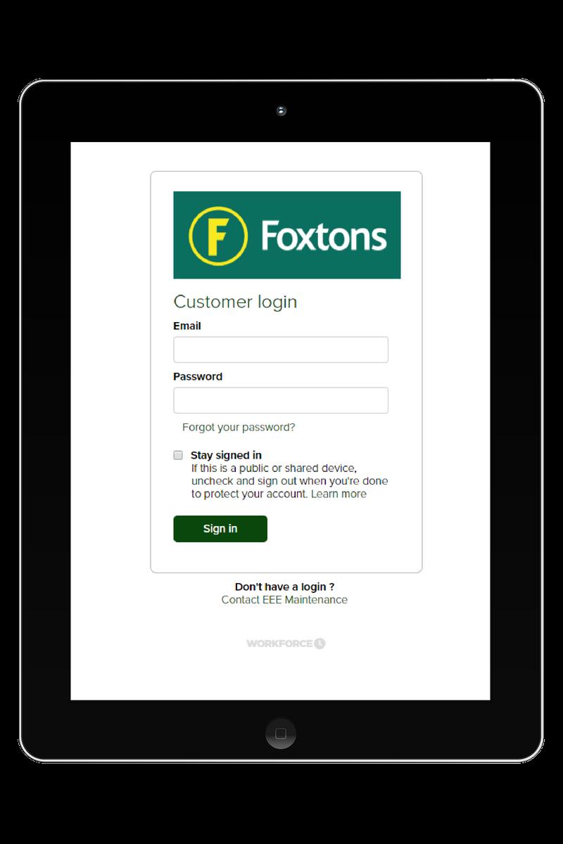 foxtons-customer-portal-login-page-tablet