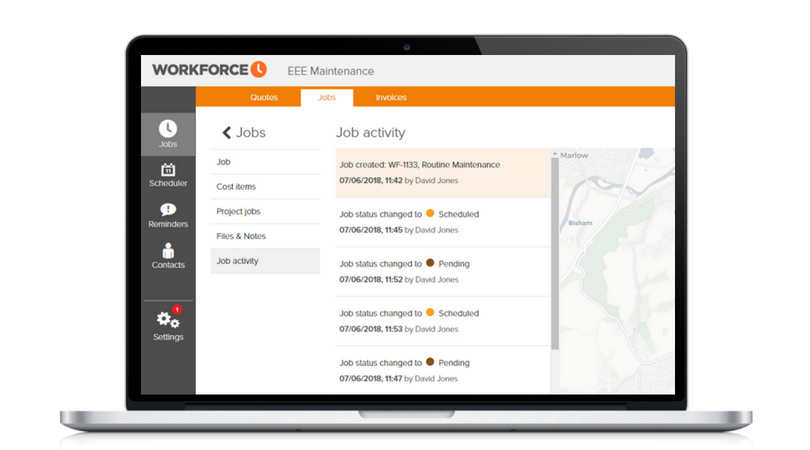 Service Tracking Software | Workforce Tracking Software Workforce