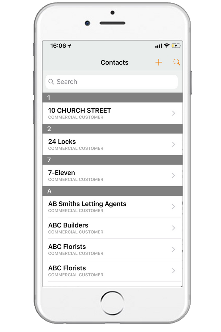mobile-contacts-list-screen